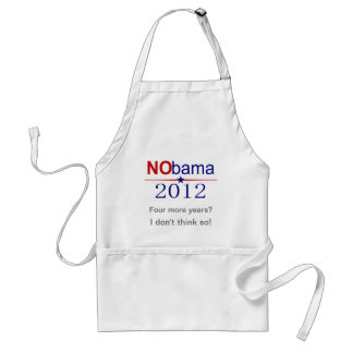 NObama 2012 election Standard Apron
