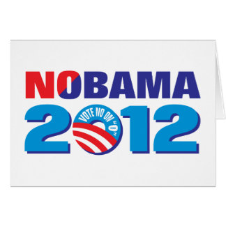 NOBAMA 2012 GREETING CARD