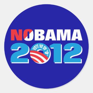 NOBAMA 2012 ROUND STICKER