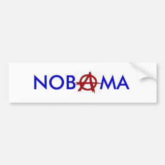 """Nobama"" Anarchy Bumper Sticker"
