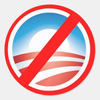 NOBAMA Anti Obama T shirts, Mugs, Hoodies Classic Round Sticker