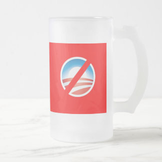 NOBAMA Anti Obama T shirts, Mugs, Hoodies Frosted Glass Beer Mug