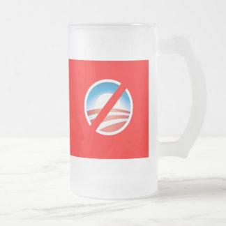 NOBAMA Anti Obama T shirts, Mugs, Hoodies Frosted Glass Mug