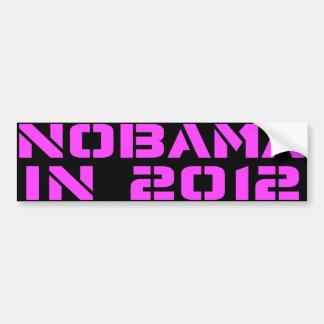 NOBAMA in 2012 Bumper Sticker