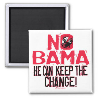 Nobama Keep the Change Fridge Magnet