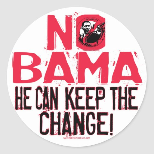 Nobama Keep the Change Sticker