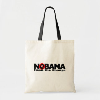 NoBama: Keep the change. Tote Bag