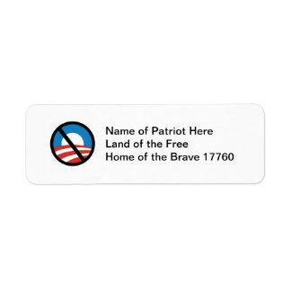 Nobama Logo Return Address Sticker
