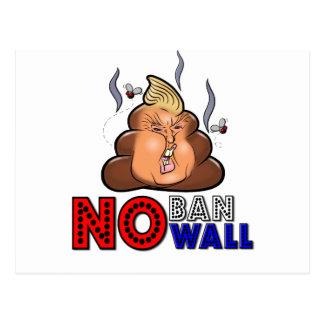 NoBanNoWall No Ban No Wall Protest Immigration Ban Postcard