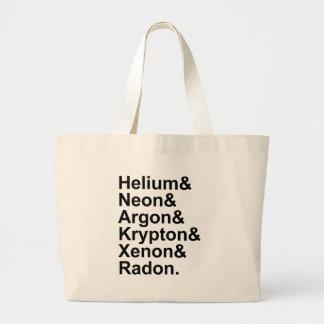 Noble Gases Helium Neon Argon Krypton Radon Xenon Jumbo Tote Bag
