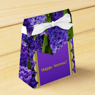 Noble Happy Norooz Hyacinths - Favor Box Tent