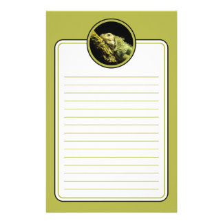 Noble Iguana Lined Stationery