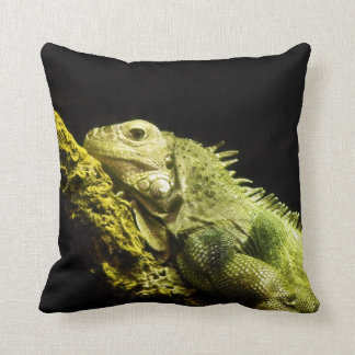 Noble Iguana Throw Pillow