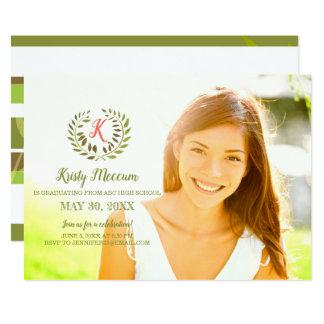 Noble Laurels Graduation Photo Announcement
