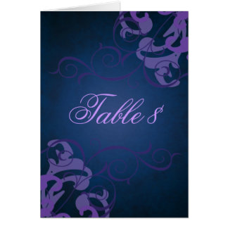 Noble Purple & Blue Scroll Table Card