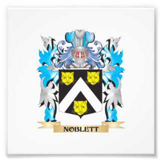 Noblett Coat of Arms - Family Crest Photograph