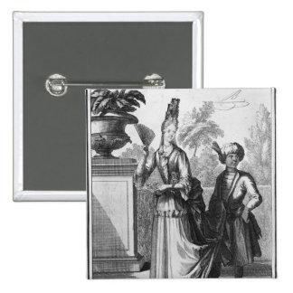 Noblewoman's dress, late 17th century 15 cm square badge