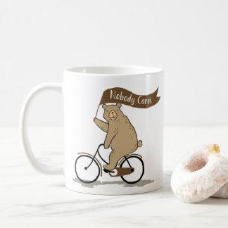 Nobody Cares Bear, Funny, Animal Humor Coffee Mug