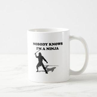 Nobody Knows I m A Ninja Mugs