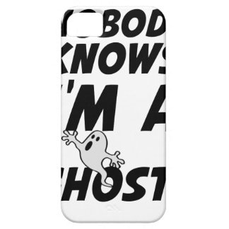 Nobody Knows I'm A Ghost design Case For The iPhone 5