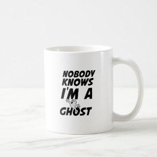 Nobody Knows I'm A Ghost design Coffee Mug
