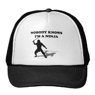 nobody knows I'm a ninja Trucker Hats