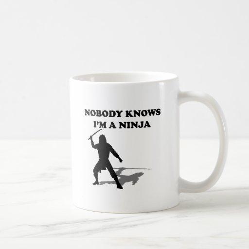 Nobody Knows I'm A Ninja Mugs