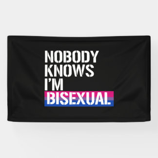Nobody Knows I'm Bisexual - - LGBTQ Rights -  - .p Banner