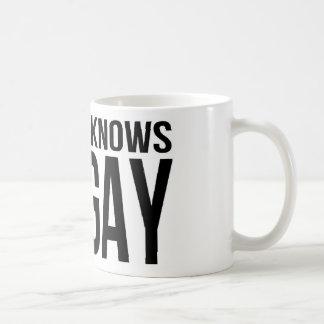 Nobody Knows I'm Gay Coffee Mug