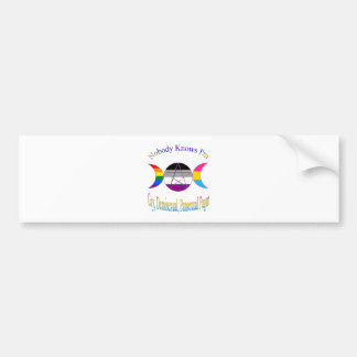 Nobody Knows I'm Gay Demisexual Pansexual Pagan Bumper Sticker