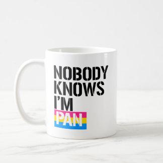 Nobody Knows I'm Pan - - LGBTQ Rights -  Coffee Mug