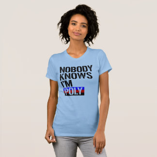Nobody Knows I'm Poly - - LGBTQ Rights - T-Shirt