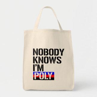 Nobody Knows I'm Poly - - LGBTQ Rights -  Tote Bag