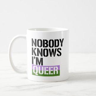 Nobody Knows I'm Queer - - LGBTQ Rights -  Coffee Mug