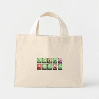 nobody knows in chemical elements mini tote bag