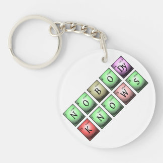 nobody knows in chemical elements Single-Sided round acrylic key ring