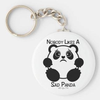 Nobody Likes A Sad Panda Basic Round Button Key Ring
