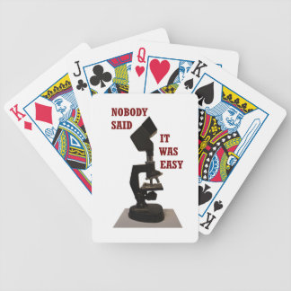 Nobody said it was easy bicycle playing cards