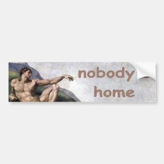 nobody's home bumper sticker