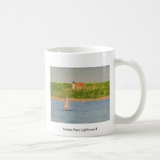 Nobska Point Lighthouse II Basic White Mug