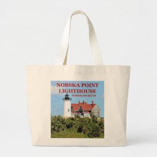 Nobska Point Lighthouse, Massachusetts Tote Bag