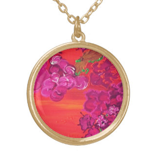 """""""noches de verano"""" art by Beth Wellesley Gold Plated Necklace"""