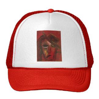 nock in red trucker hat