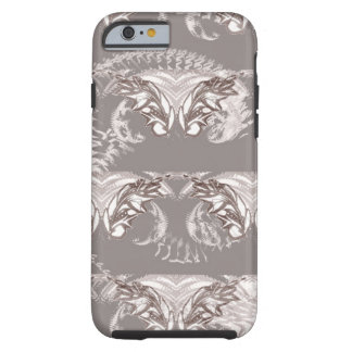 Nocturanl Animal Grey and White Feather Tough iPhone 6 Case