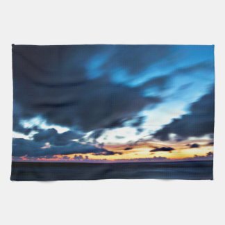 Nocturnal Cloud Spectacle on Danish Sky Tea Towel