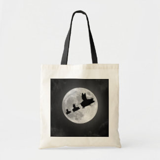 Nocturnal Flying Pig Family Tote Bag