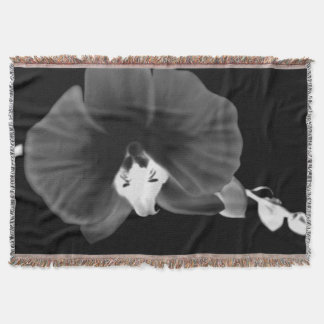 Nocturnal Orchid Throw Blanket