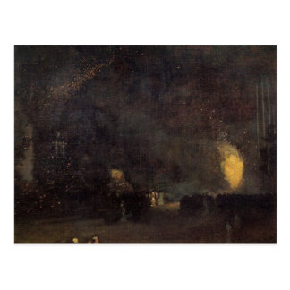 Nocturne, Black and Gold, The Fire Wheel -Whistler Postcard