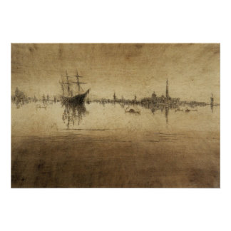 Nocturne by James Abbott McNeill Whistler Poster