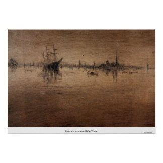 Nocturne by James Abbott McNeill Whistler Poster